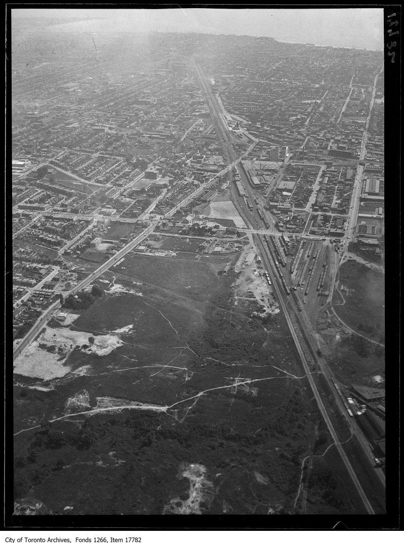 Aerial shots, West Toronto, St. Clair, Davenport, Keele. - August 30, 1929
