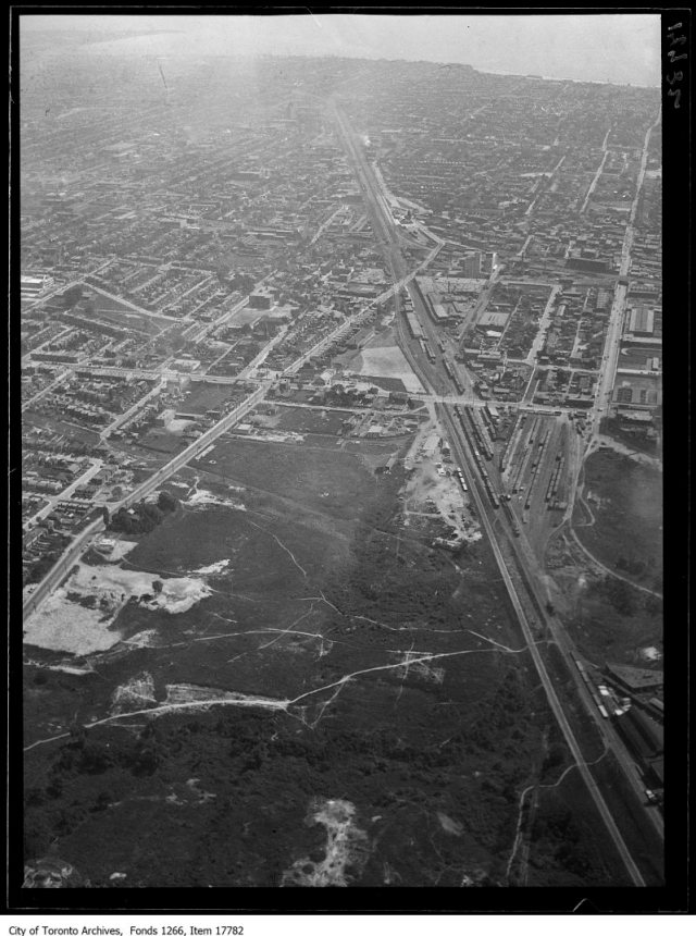Aerial shots, West Toronto, St. Clair, Davenport, Keele. - August 30, 1929