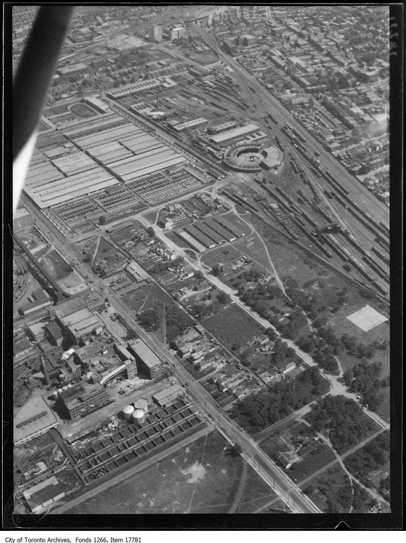Aerial shots, West Toronto, Union Stock, etc.. - August 30, 1929