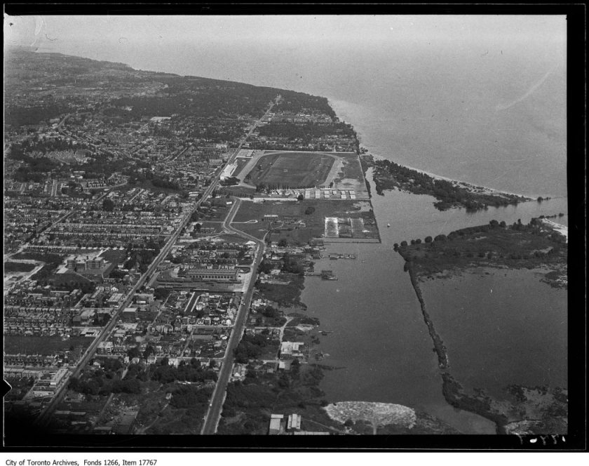 Aerial shots, Woodbine back and Ashbridge's Bay. - August 30, 1929