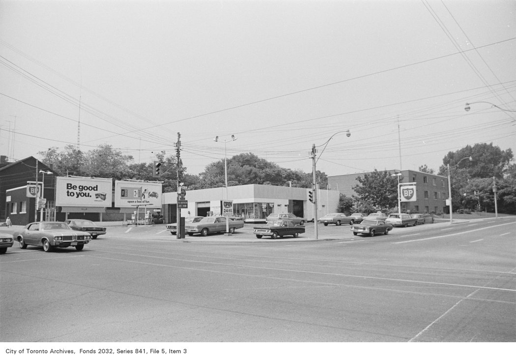 Corner of Gerrard St. and River St., looking north-west
