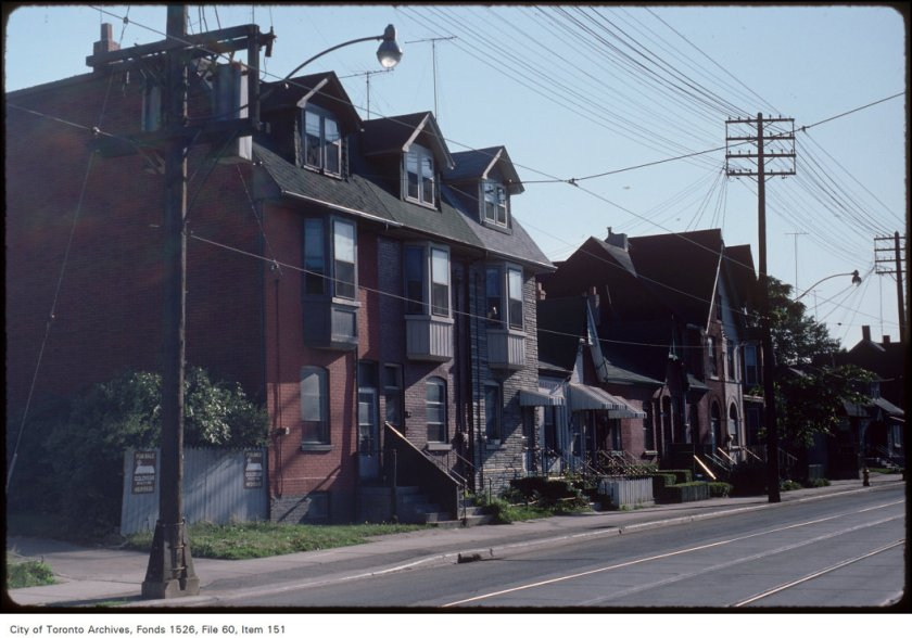 Gerrard St E., north side, east of Broadview