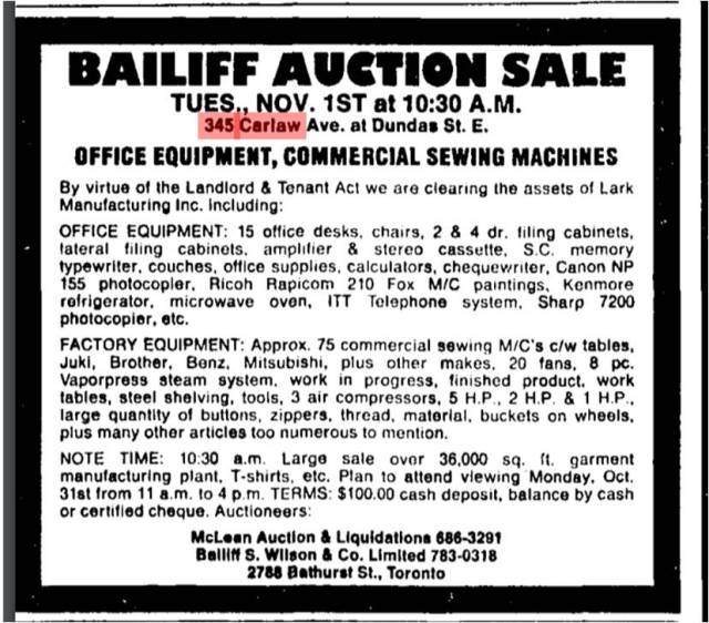 globe-and-mail-october-29-1988-bailiffs-sale-lark-manufacturing
