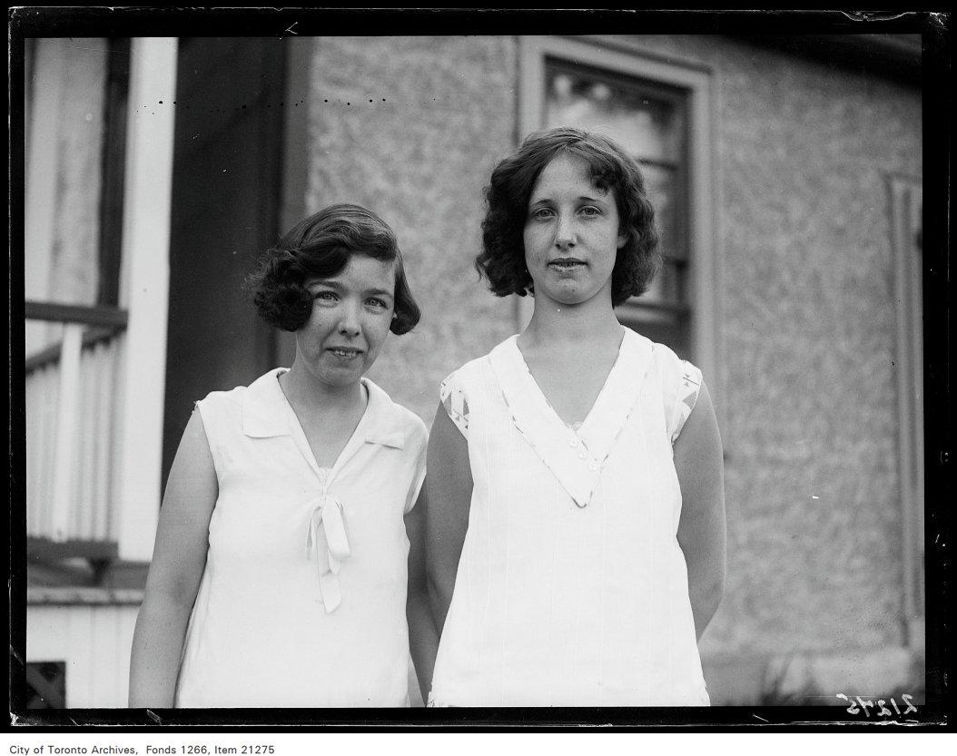 Josephine McGuire, 346 Rhodes Avenue, Elsie Rayner, 342 Rhodes Avenue, portraits.