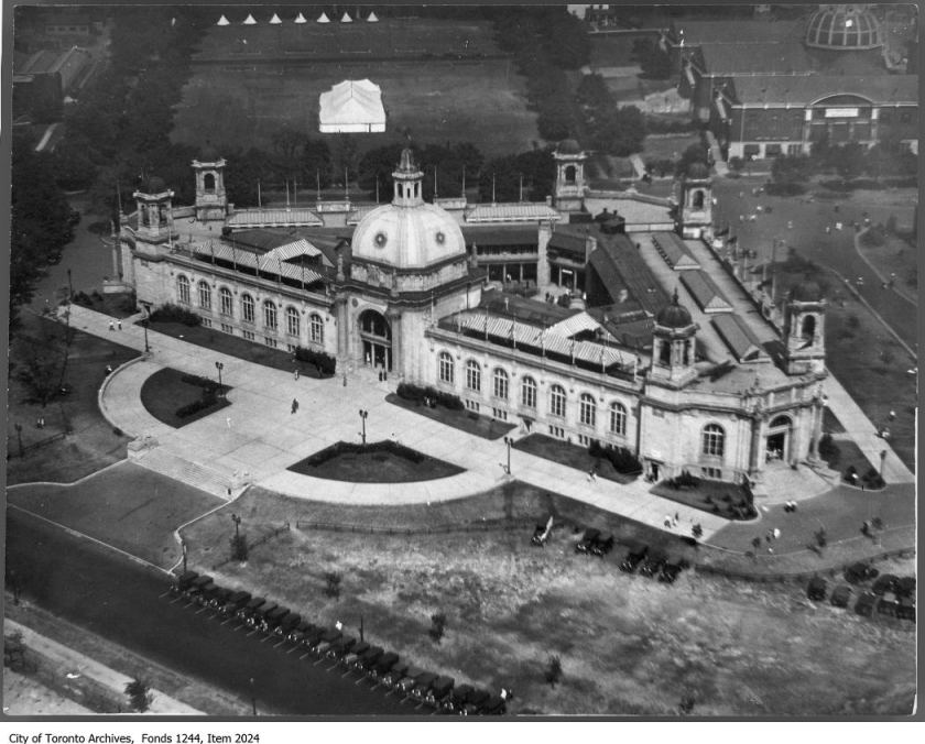 Ontario Government Building, CNE, seen from blimp. - 1929