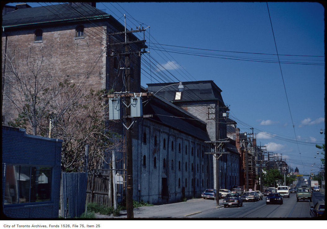 View of Dominion Breweries on Queen Street East