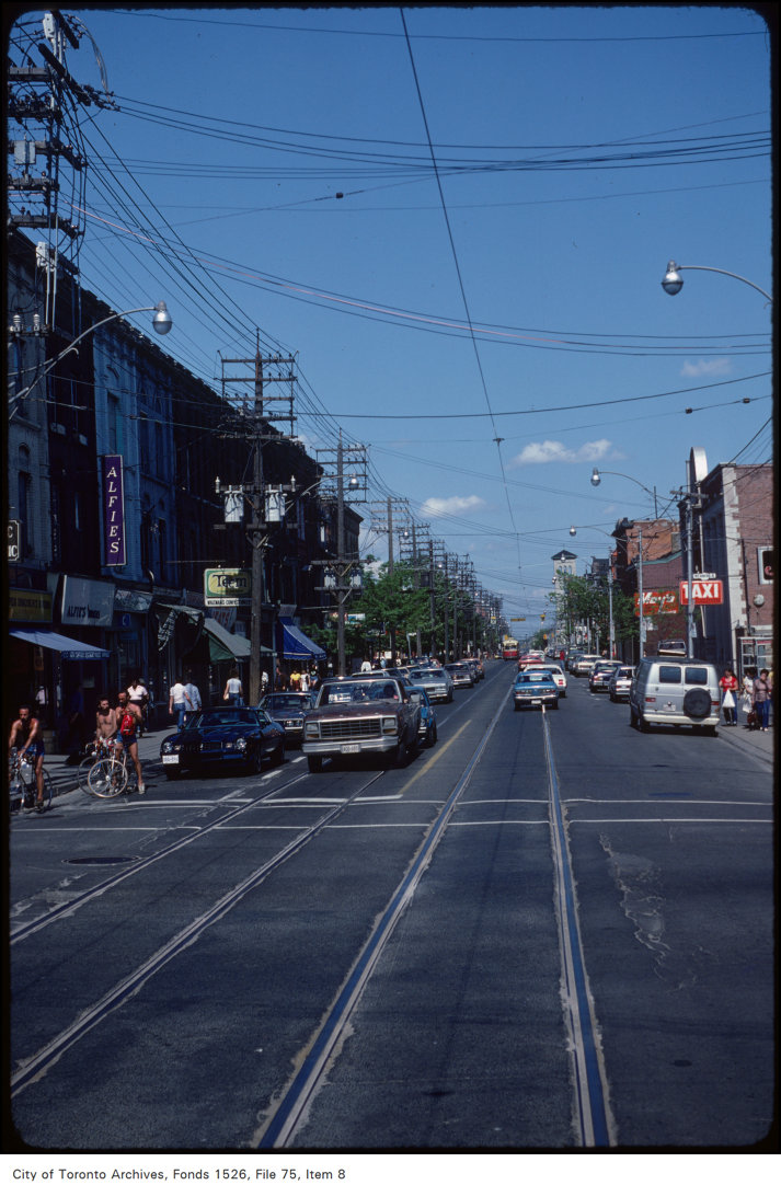 View of Queen Street East at Sherbourne Street