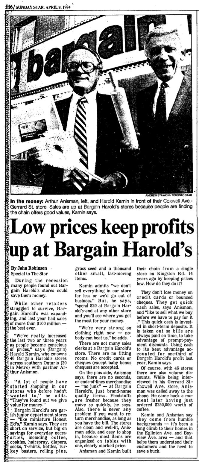 toronto-star-08-apr-1984-bargain-harolds