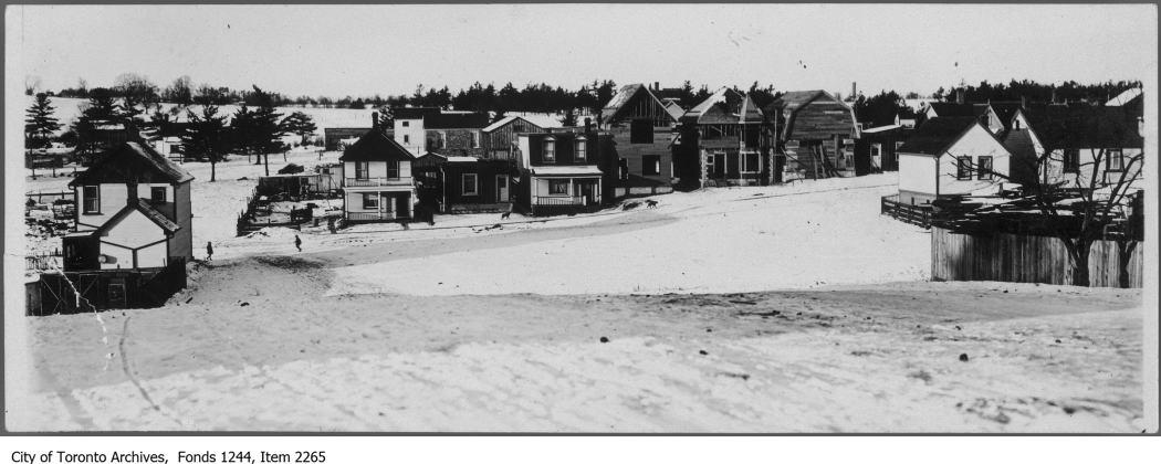 Wooden houses, Wychwood. - [ca. 1907]