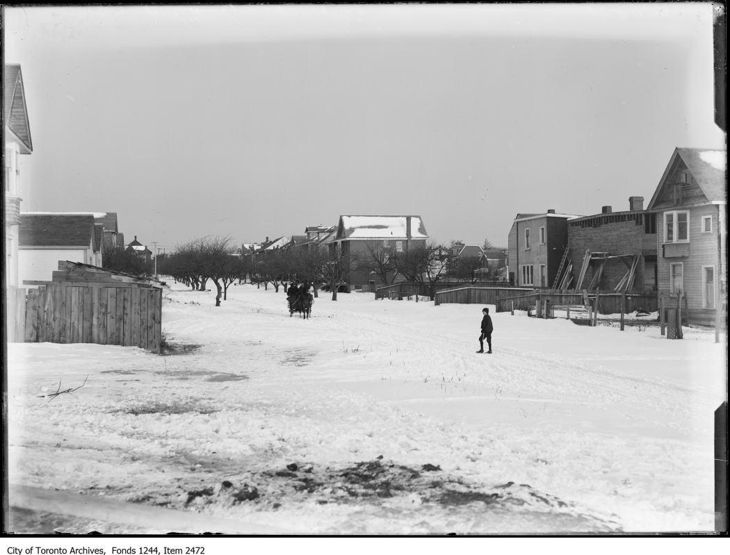 Wychwood Street through orchard. - [ca. 1907]