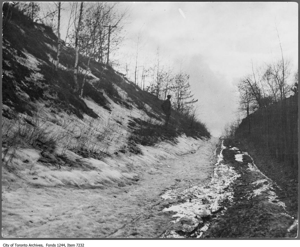 Bloor Street west near the Humber. - 1907