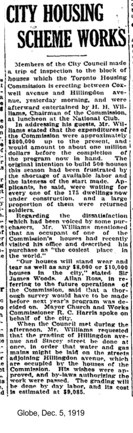 globe-dec-5-1919-toronto-housing-commission