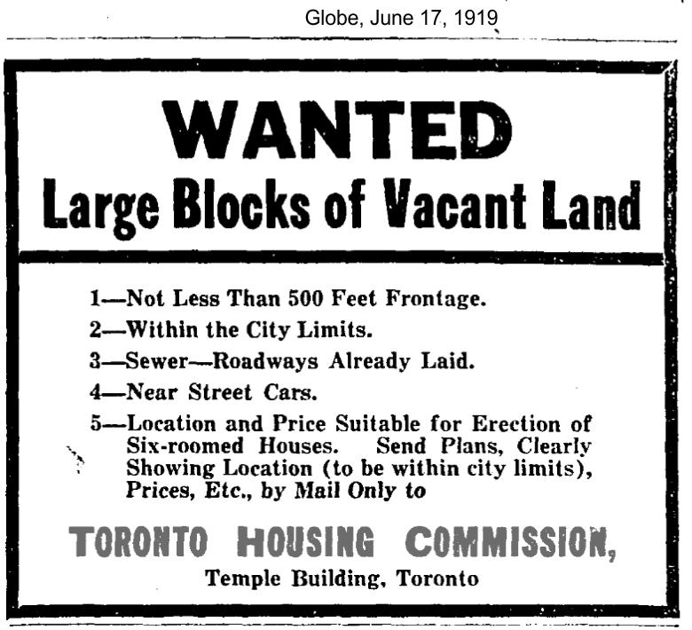 globe-june-17-1919-toronto-housing-commission