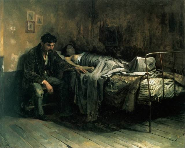 la-miseria-by-cristobal-rojas-1886
