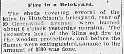18990622GL Fire Hutchisons brickyard 99 Greenwood Ave