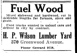 19220918GL H P Wilson Lumber 370 Greenwood