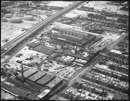 21 Clarke Tannery (lower left) February, 1967 Archives of Ontario