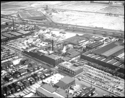 23 Clarke Tannery (center) February, 1967 Archives of Ontario. Canada Metals far left