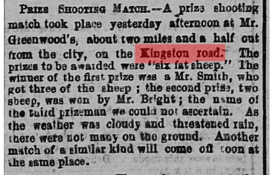 Globe, Nov. 7, 1865 Greenwood's shooting match