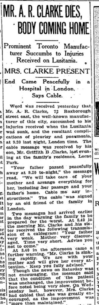 Toronto Star, June 21, 1915