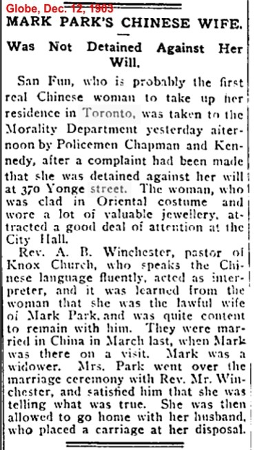 1903 Globe, Dec. 12, 1903 Chinese Wife