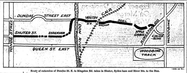 19500608 GM Dundas Extension Map