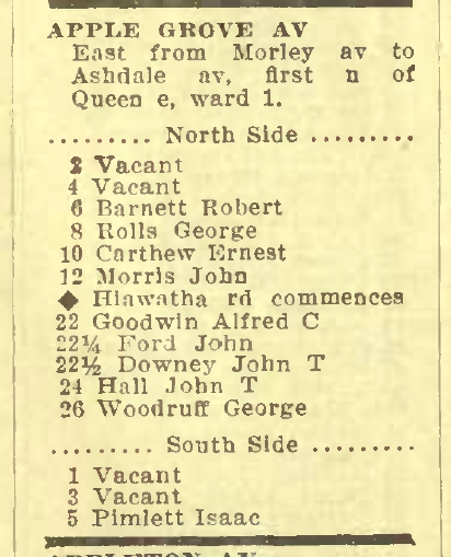 Applegrove 1912