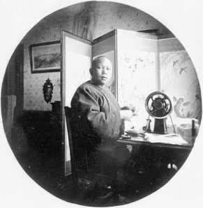 Chinese tailor, c. 1889, BC, Robert W. Reford, Library and Archives Canada PA-118195