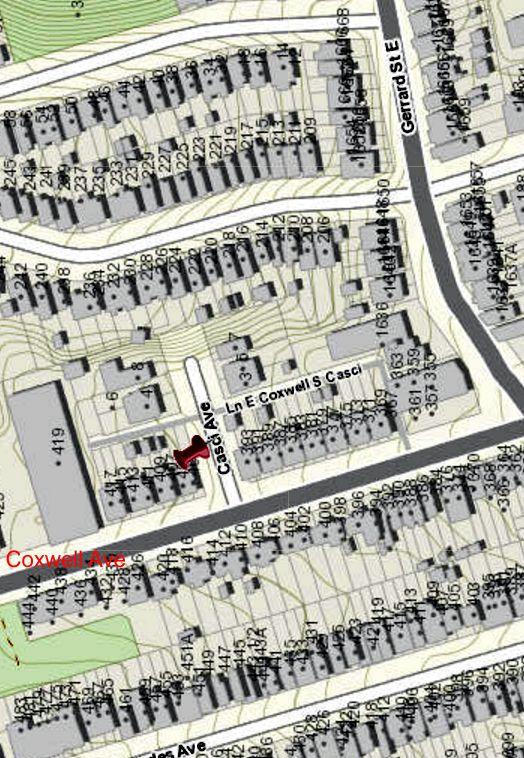 City of Toronto Interactive map Casci Avenue