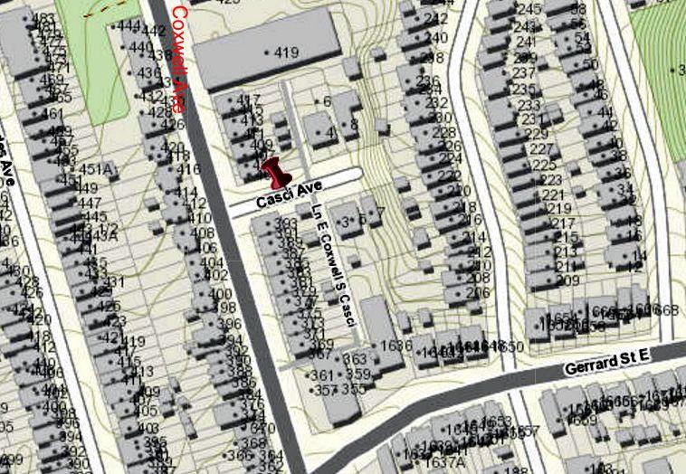 City of Toronto Interactive map Casci Avenue2
