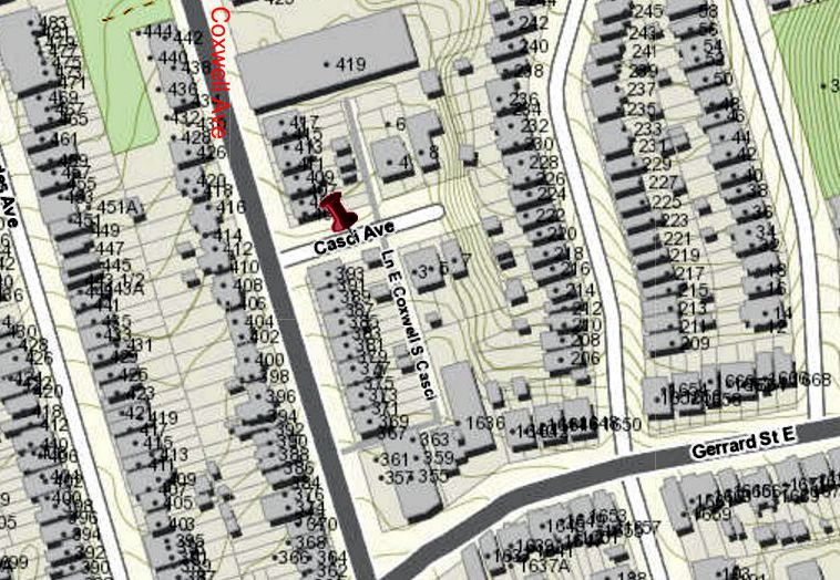 City of Toronto Interactive map Casci Avenue2