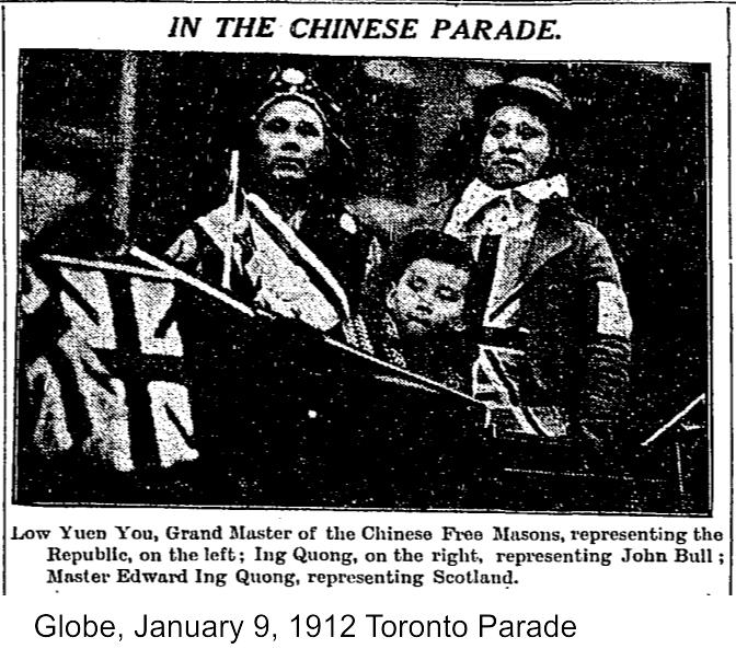 Globe, January 9, 1912 Toronto Parade