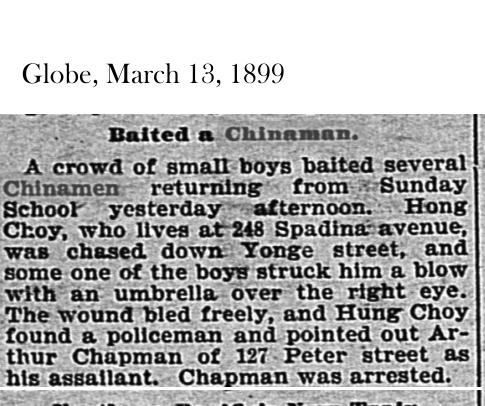 Globe, March 13, 1899 Baiting a Chinaman