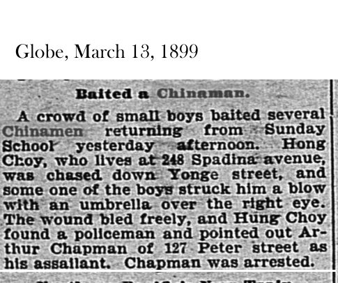 Globe, March 13, 1899 Baiting a Chinaman