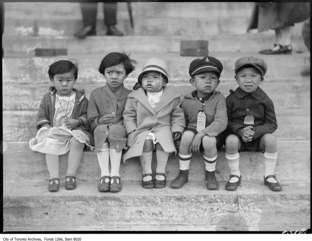 Chinese Picnic, group of 5 children, Exhibition. - June 18, 1926