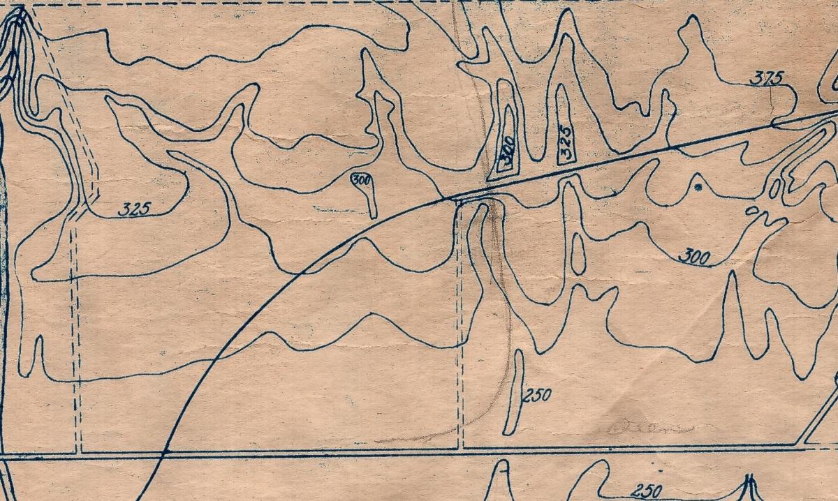 Lazeby 1921 TTC close up topo map Leslieville - Copy