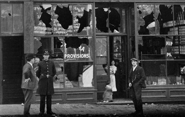 Vancouver's Powell Street after race riot of September 7, 1907