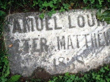 1838 Lount Matthews Gravestone photo by J. Doucette