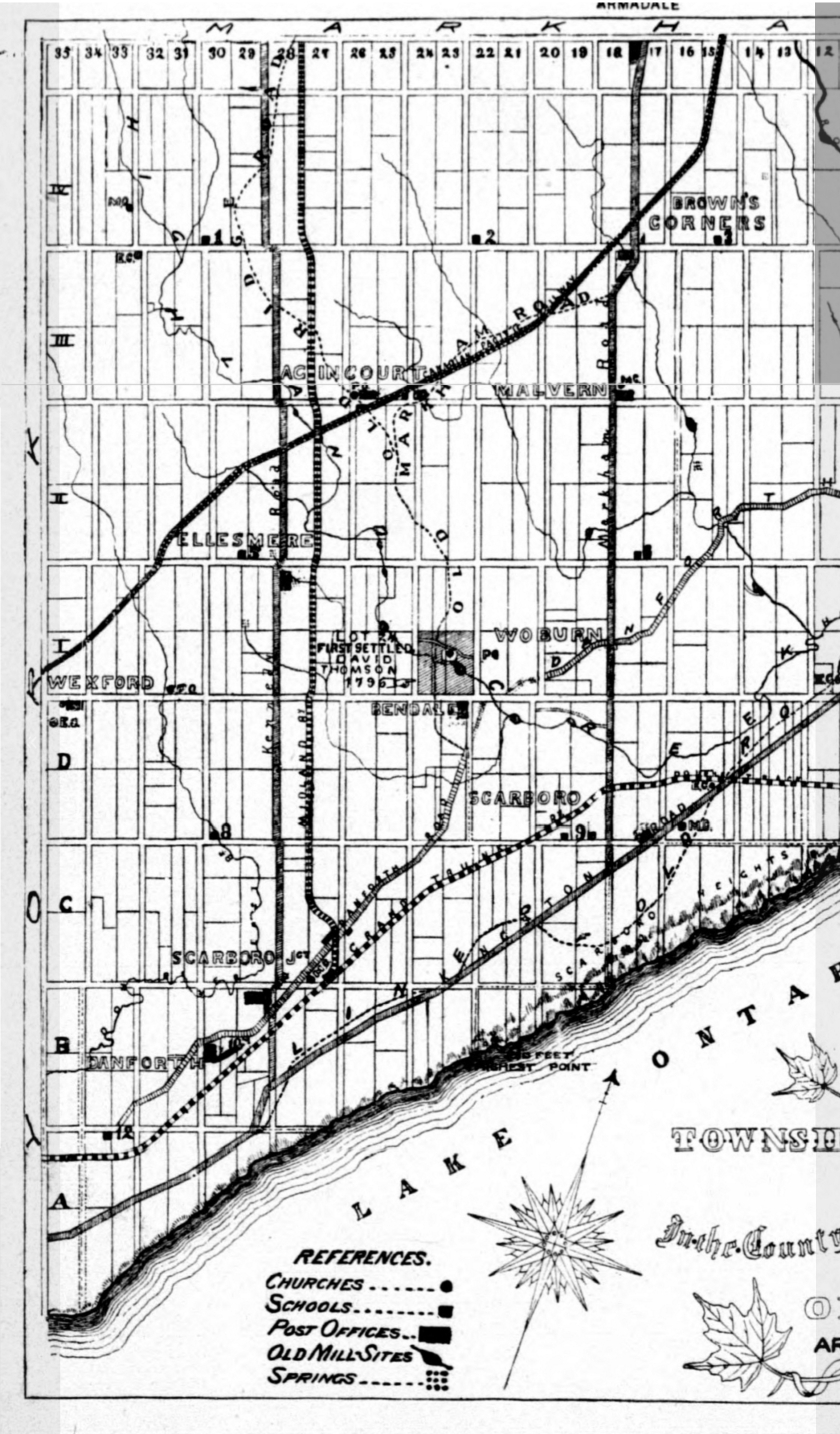 1896 Map of Scarboro Left side