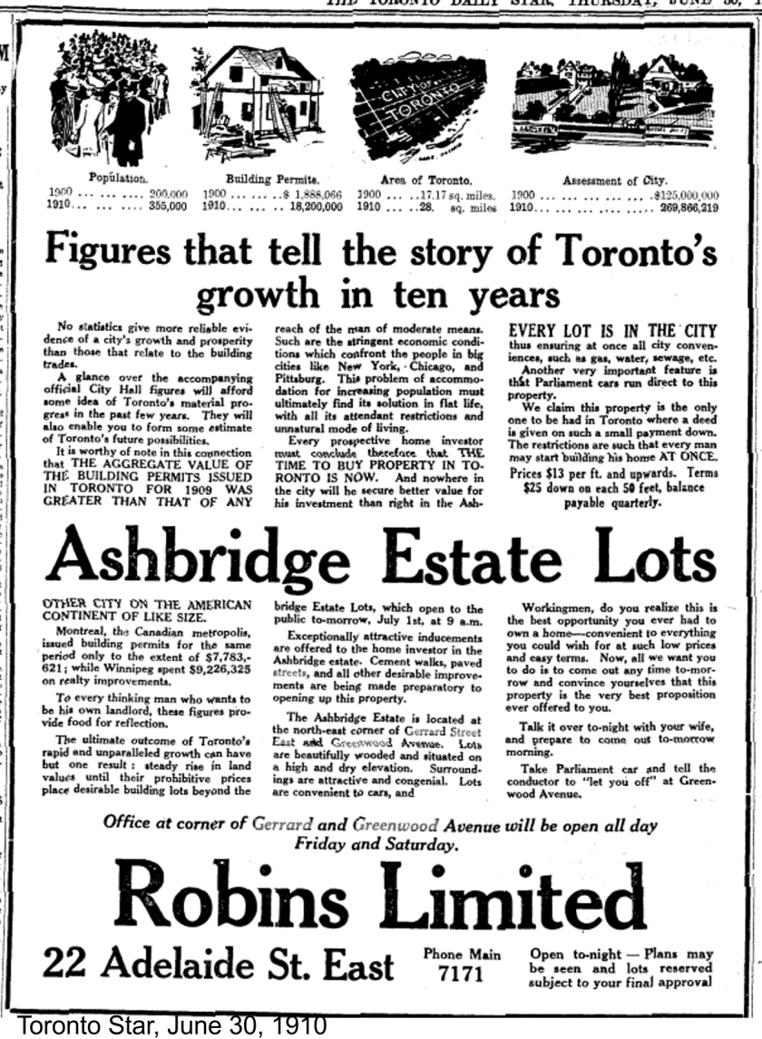 19100630 TS Ad Ashbridges Estate