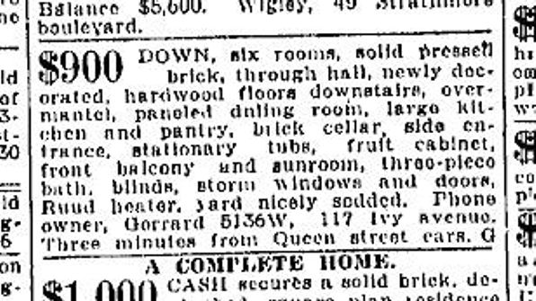 19230324 Toronto Star March 24, 1923 117 Ivy Ave
