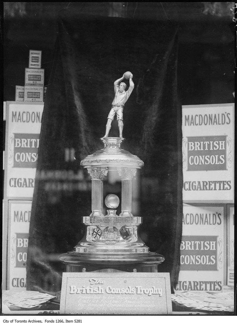 British Consols Soccer Trophy, front. - May 20, 1925