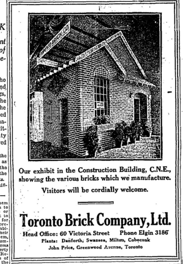 19250829 GL Toronto Brick ad CNE