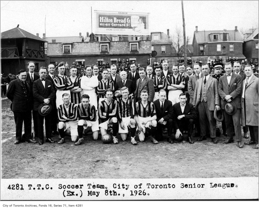 T.T.C. soccer team, City of Toronto Senior League, (Executive Department)