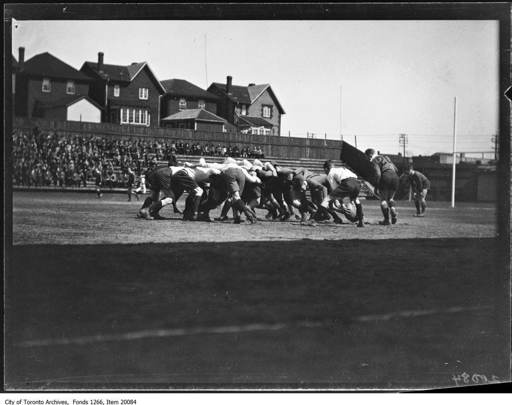 English rugby, scene. - May 3, 1930