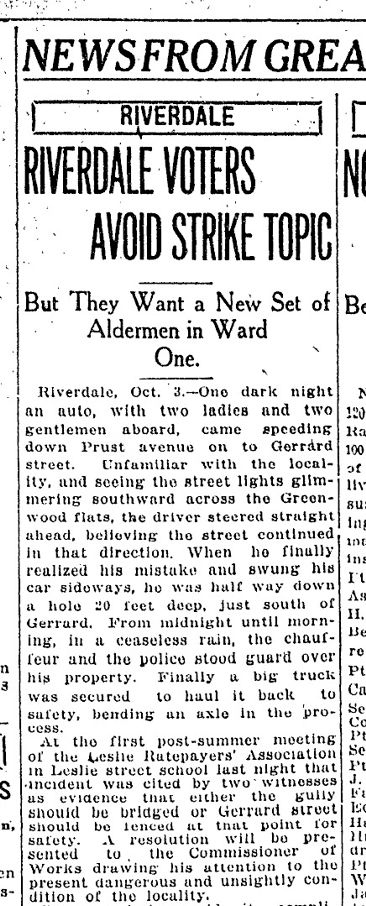 Alton Avenue Toronto Star, Oct. 3, 1917