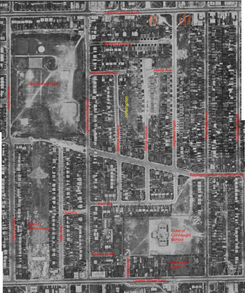 Area of Ulster Stadium 1947 Aerial Photo