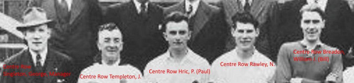 Centre row a
