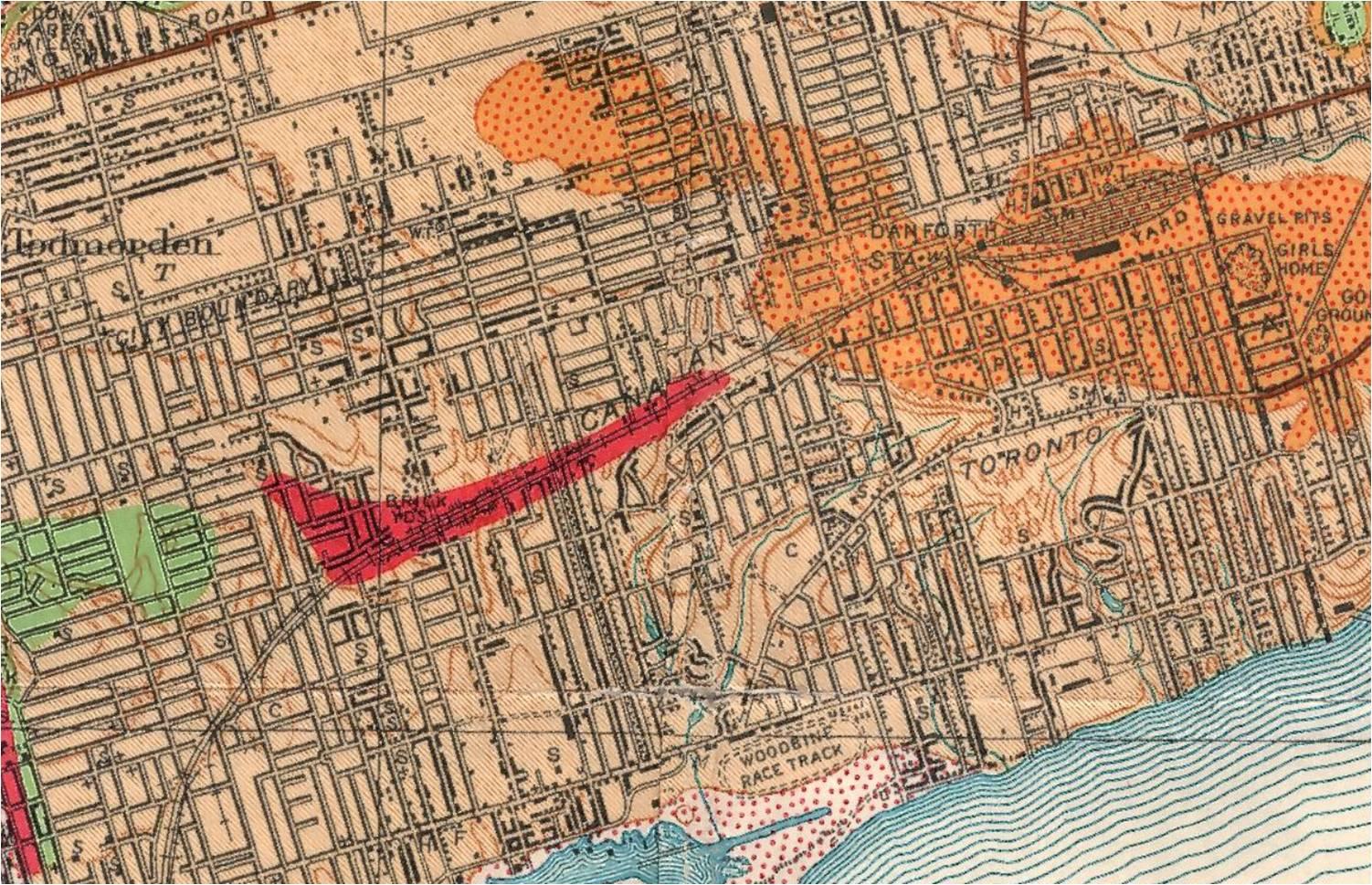 Coleman 1932 map