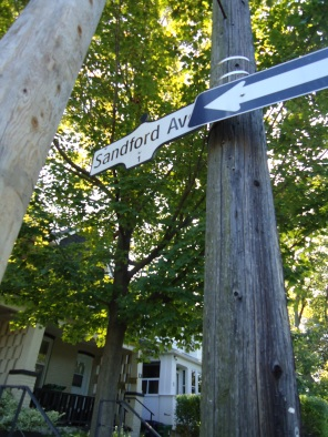 Sandford Avenue at Prust, October 17, 2017 photo by J. Doucette